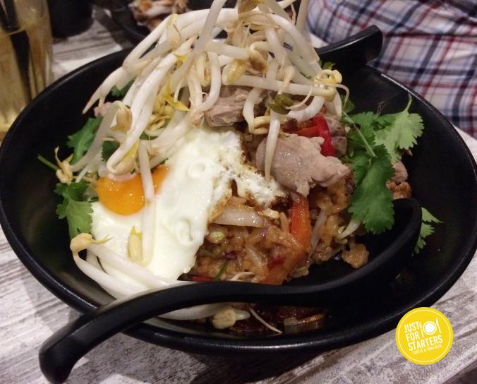 Darlings Roast Duck & King Prawn Nasi Goreng, Fried Egg $28